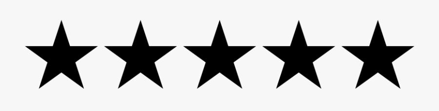 Clip Art Customer Review Star Stock - Black Transparent Background 5 Stars, Transparent Clipart