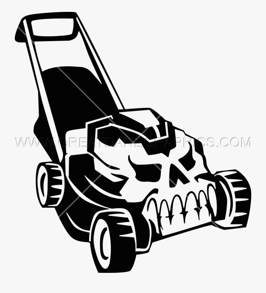 Mowing Clipart Grass Cutting Machine - Skull Lawn Mower Clipart, Transparent Clipart