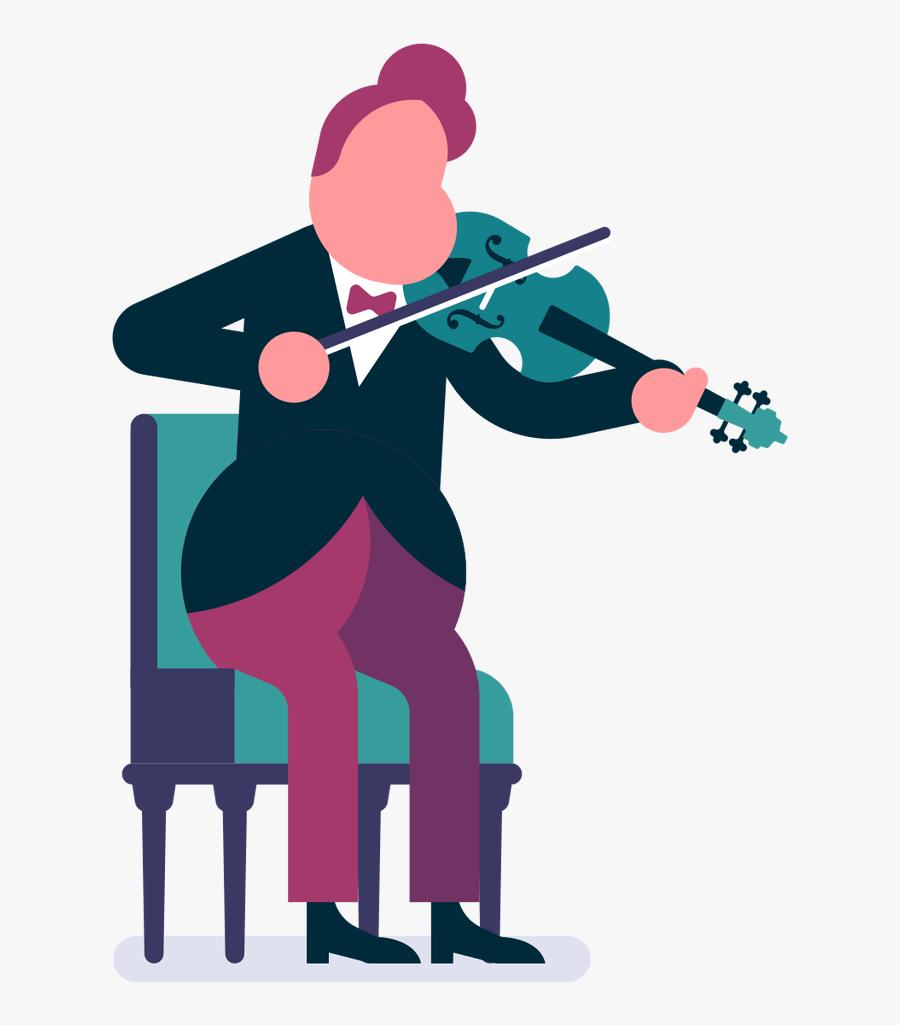 Music Orchestra Cartoon, Transparent Clipart