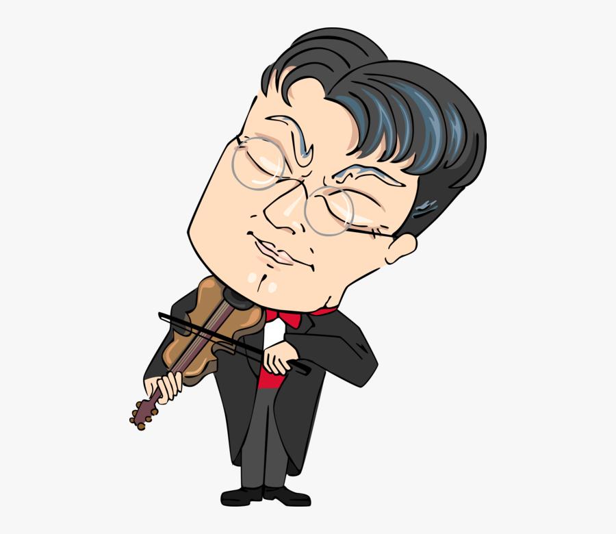 Vector Illustration Of Concert Violinist Musician Plays - Cartoon, Transparent Clipart