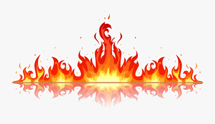 Fire Flame Png Image Background - Flames Vector, Transparent Clipart