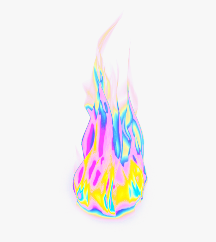 #fire #flames #aesthetic #color #dream #emoji #glitter - Illustration, Transparent Clipart