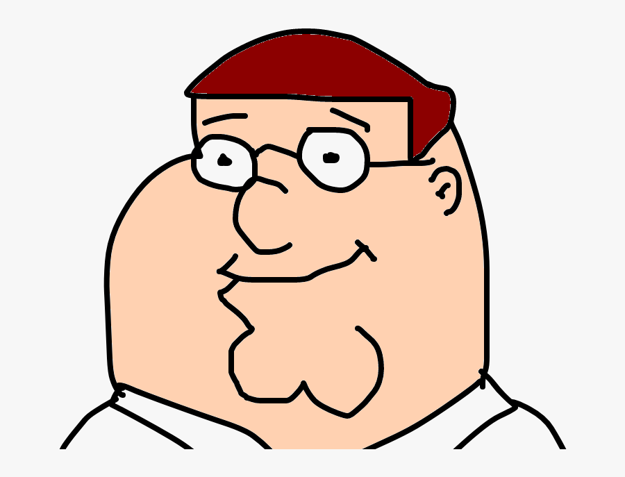 Character,glasses,vision - Peter Griffin Drawing On Snapchat, Transparent Clipart