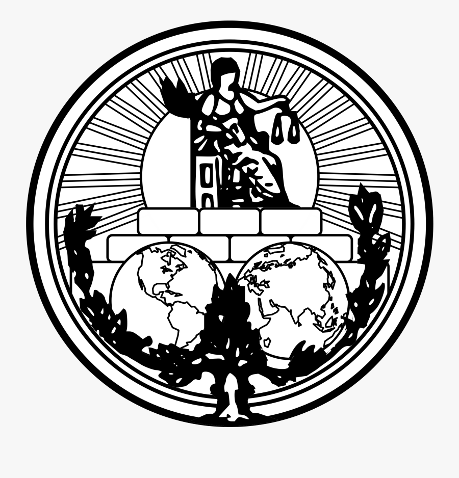 International Of Model Courts - Logo Of International Court Of Justice, Transparent Clipart