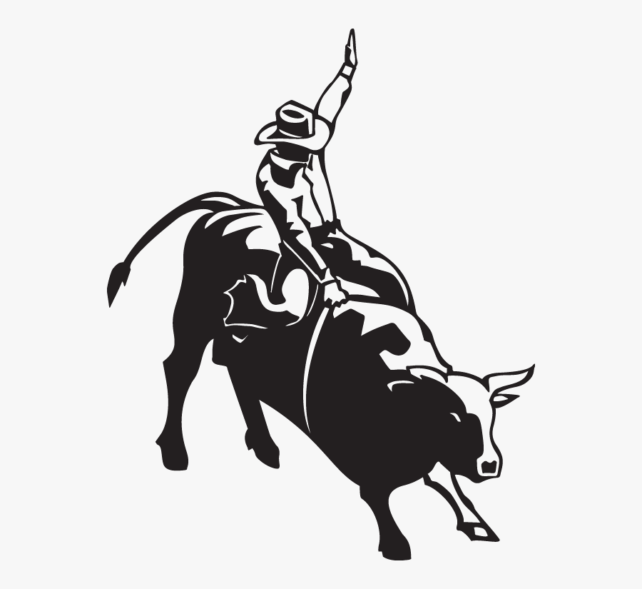 Bull Riding Rodeo Calf Roping Clip Art - Bull Rider, Transparent Clipart