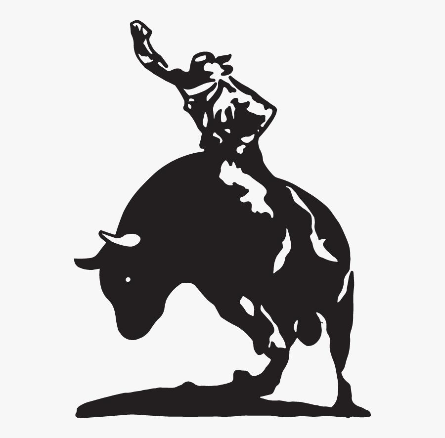 Bull Riding Cattle Ox Decal - Ride Em Cowboy, Transparent Clipart