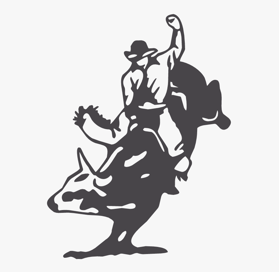Bull Riding Decal Sticker Professional Bull Riders - Bull Riding Cowboy Up, Transparent Clipart