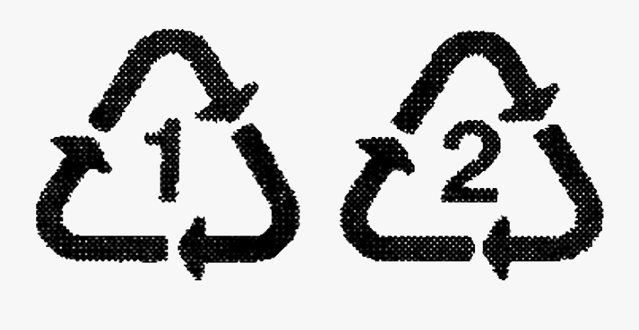 Recycling One Glass Bottle Saves Enough Electricity - Plastic Recycling Symbols 2, Transparent Clipart