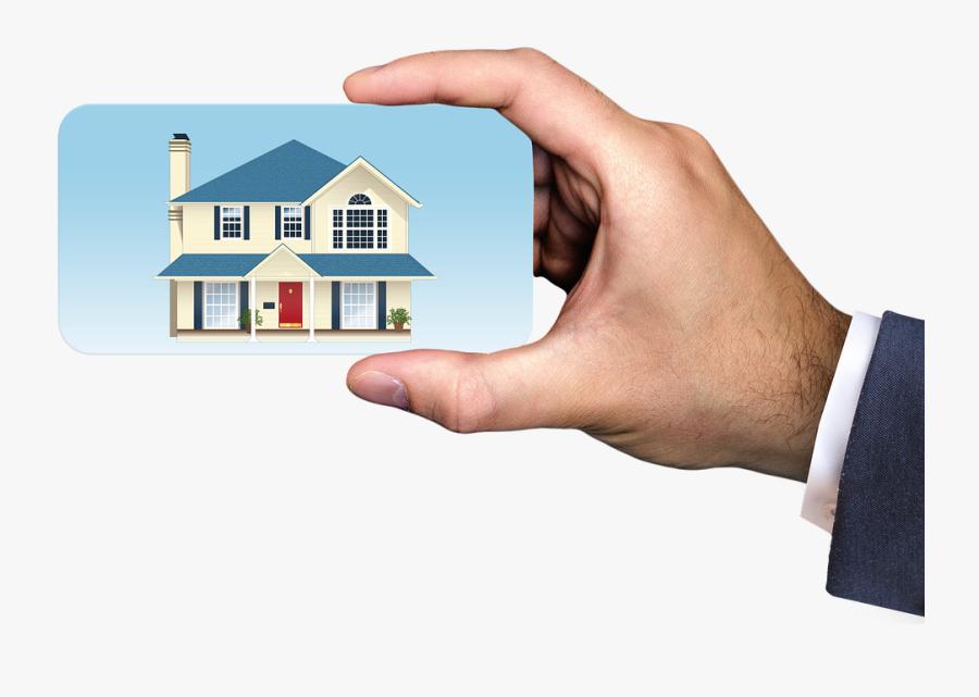 Business, Businessman, Estate Agents, Real Estate Agent - Hand Hold Credit Card Mockup Free Psd, Transparent Clipart