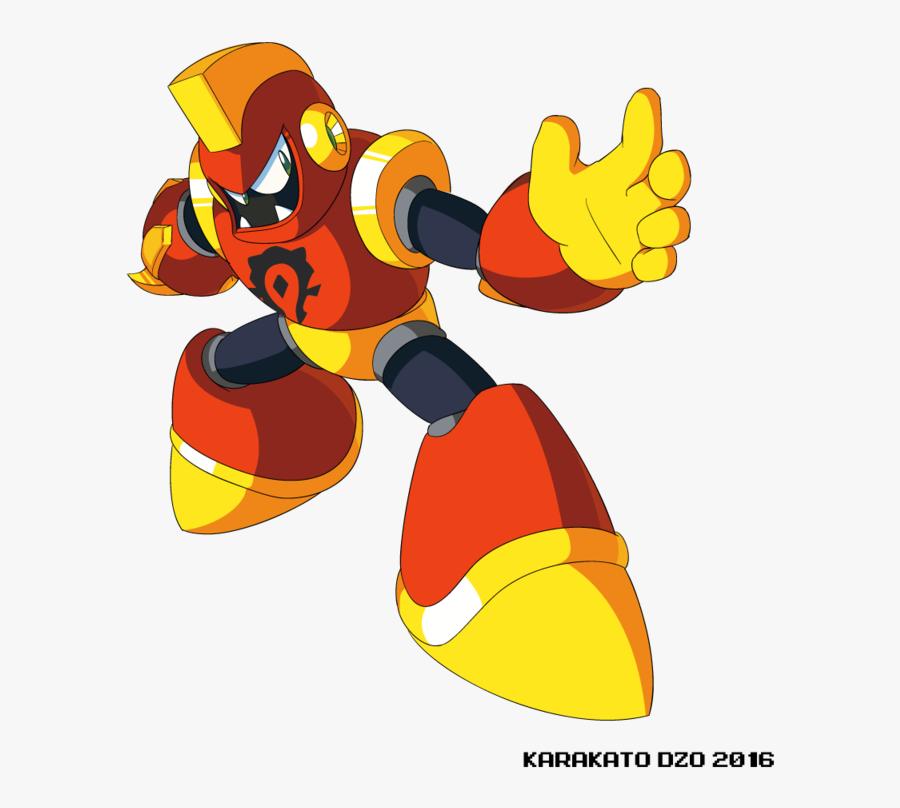 800 X 800 3 - Mega Man Axe Man, Transparent Clipart