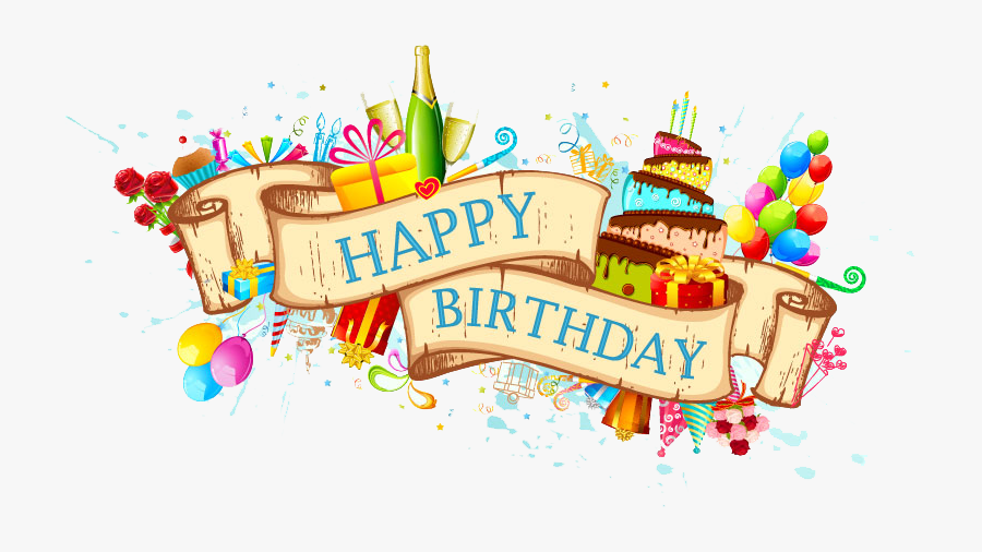 Birthday Cake Greeting Card Clip Art - Happy Birthday Background Hd Png, Transparent Clipart