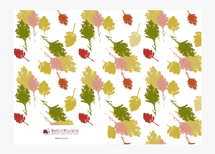 """Leaves Pattern Rectangular Greeting Cards """"  Class= - Illustration, Transparent Clipart"""