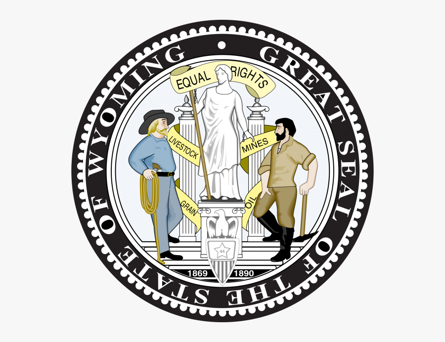 Wyoming State Seal Png, Transparent Clipart