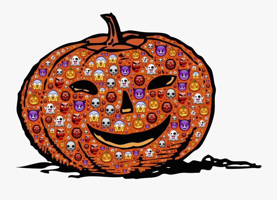 Colorful Halloween Pumpkin Clip Arts - Jack O '- Lantern Graphic, Transparent Clipart