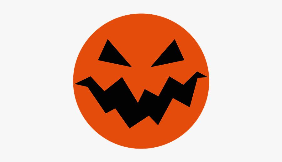 Halloween, Pumpkin, Smile, Evil, Vicious, Autumn - Jack O Lantern Circle Png, Transparent Clipart