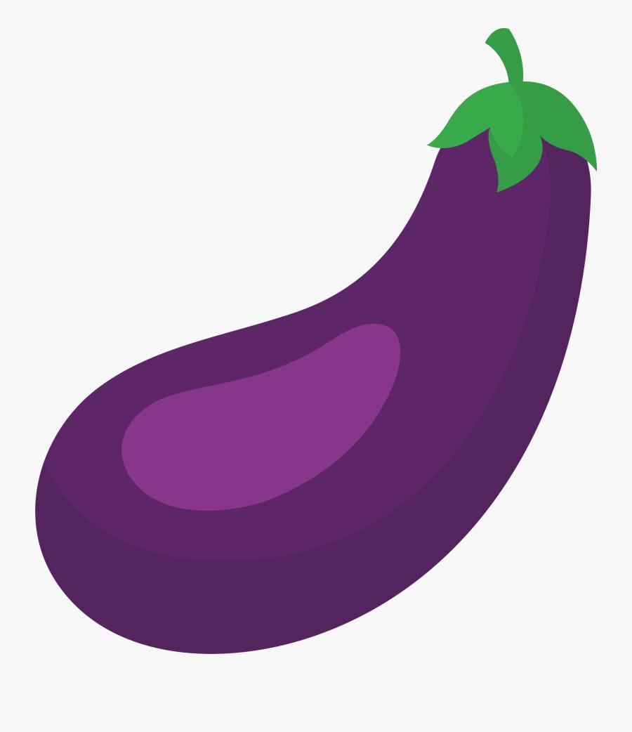 Eggplant Clipart Violet Thing - Purple Eggplant Cartoon, Transparent Clipart