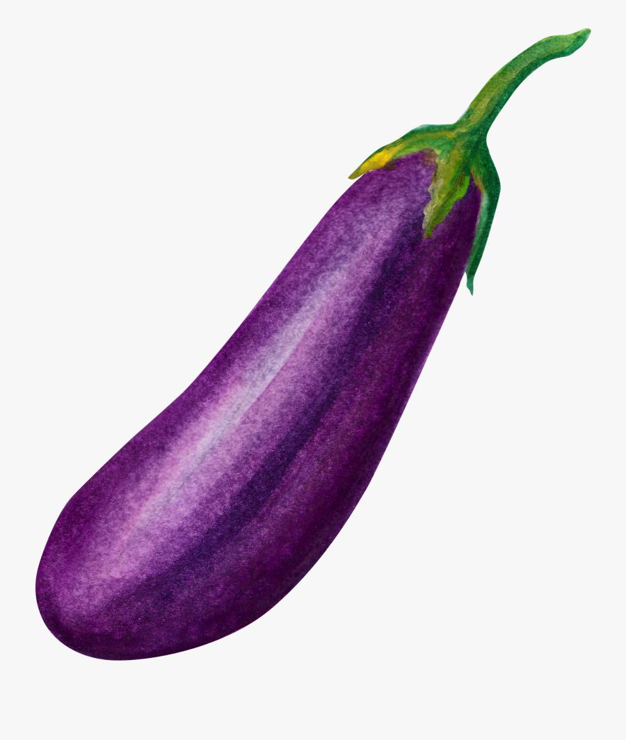 Transparent Brinjal Clipart - Eggplant Png Free, Transparent Clipart
