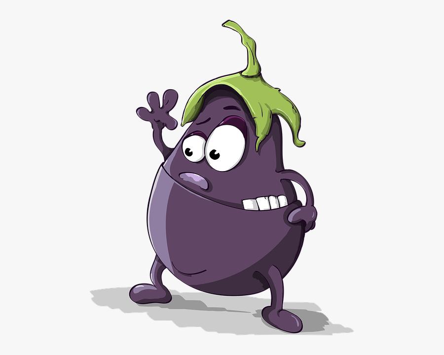 Eggplant Animation, Transparent Clipart