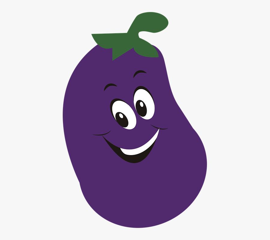 Vegetable, Food, Eggplant, Violet, Healthy - Vegetable Grill Cartoon Png, Transparent Clipart