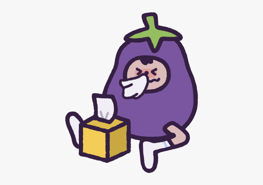 Eggby The Eggplant Messages Sticker-8 - Eggby The Eggplant, Transparent Clipart