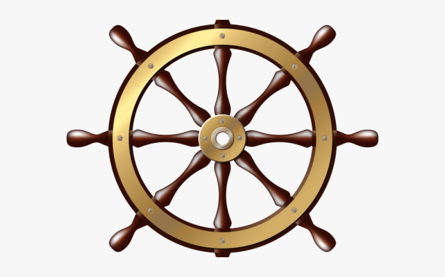 Transparent Steering Wheel Png - Ship Steering Wheel Transparent Background, Transparent Clipart
