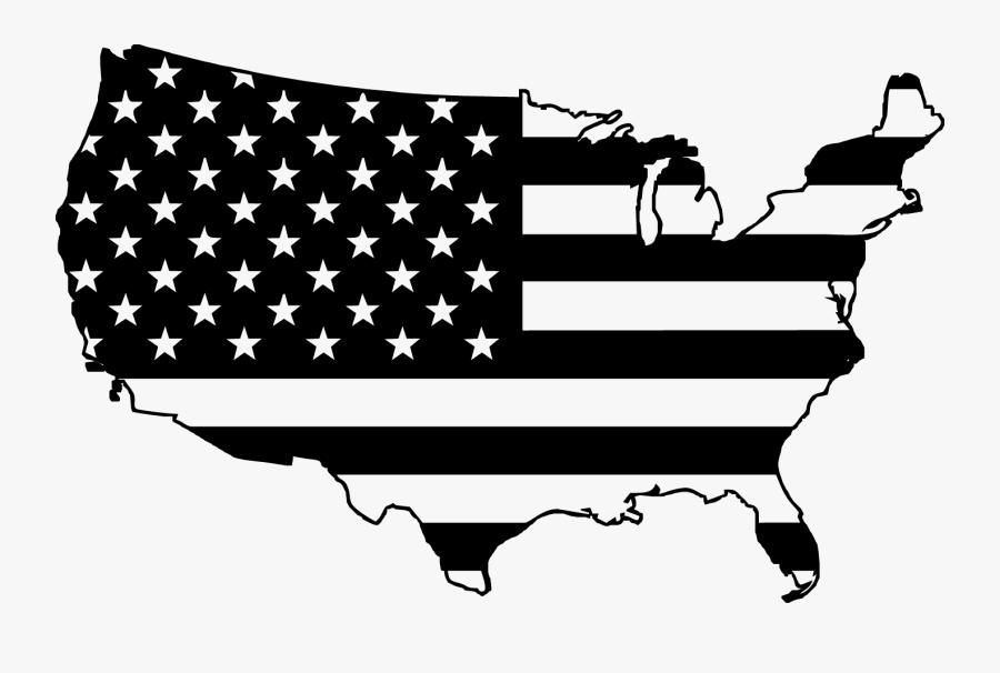 Transparent Trebuchet Clipart - United States Flag Map Silhouette, Transparent Clipart