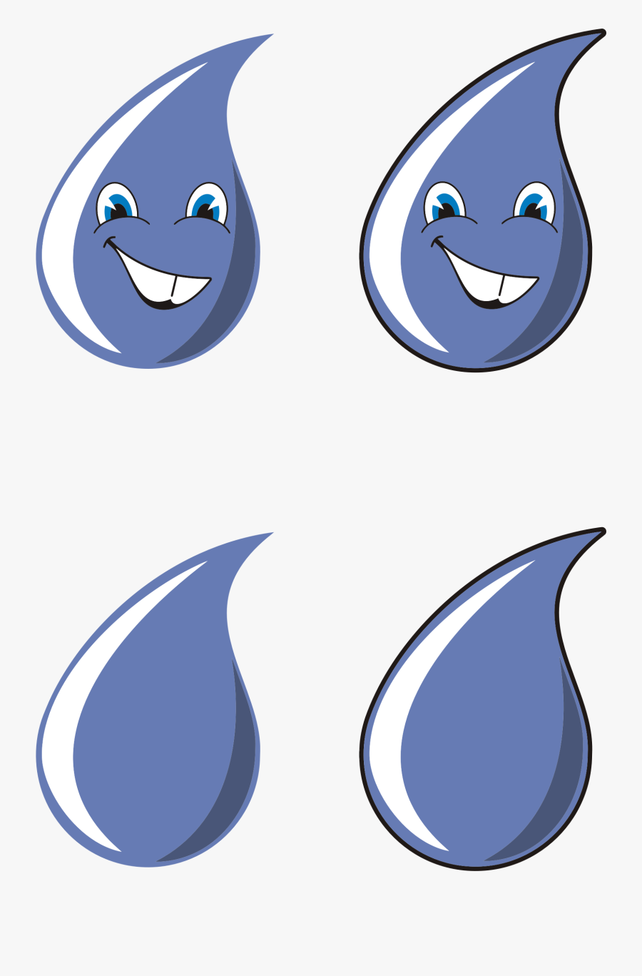 Anthropomorphic Water Drops Clip Arts - Water Eye Png, Transparent Clipart