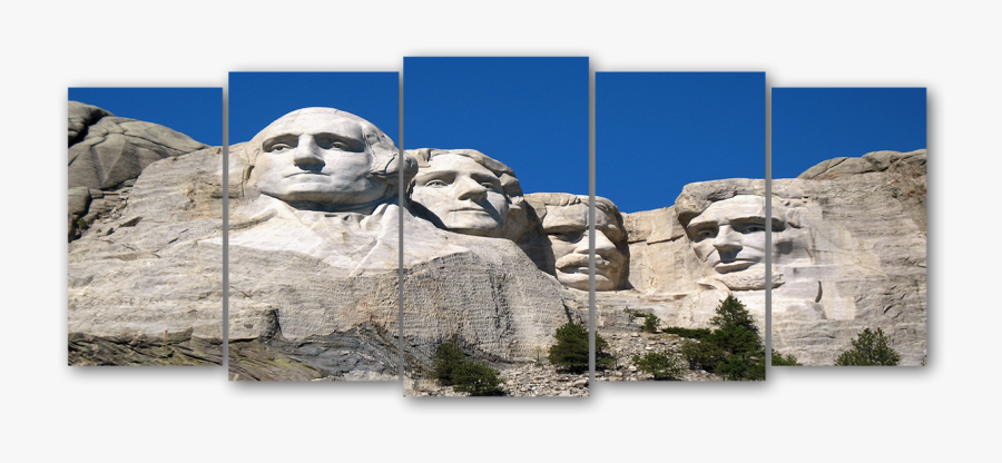 Wall Art Mt Rushmore - Mount Rushmore, Transparent Clipart