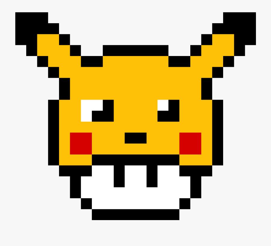 Pikachu Pixel Art Pokémon Drawing Minecraft - Pikachu Mushroom Pixel Art, Transparent Clipart