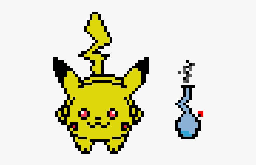 Pikachu Pixel Art, Transparent Clipart