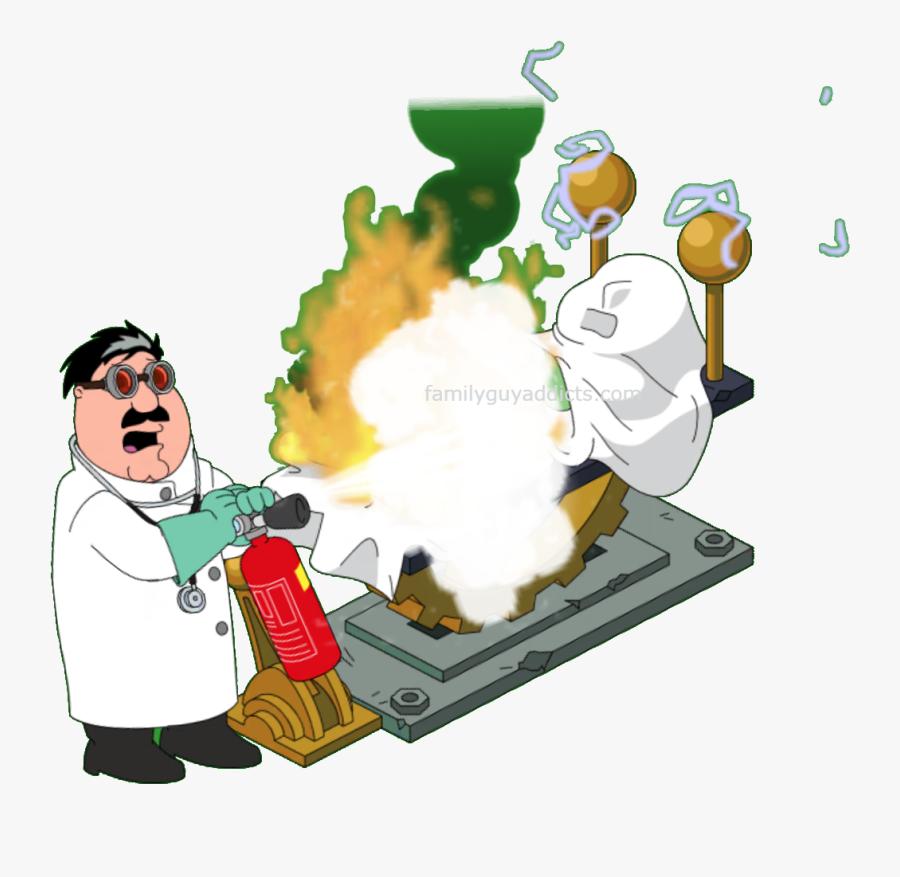 Mad Scientist Hartman Flip The Switch - Cartoon, Transparent Clipart