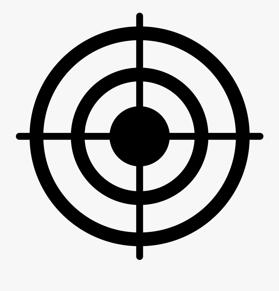 Focus Clipart Symbol Target - Bullseye Target Black And White, Transparent Clipart