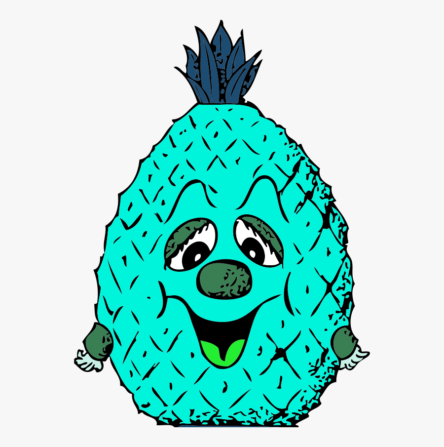 Vector Clip Art - Pineapple Free Clipart Cartoon, Transparent Clipart