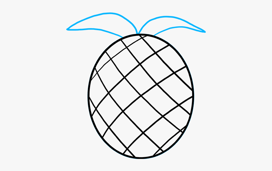 How To Draw Pineapple - Draw Pineapple Easily Step By Step, Transparent Clipart