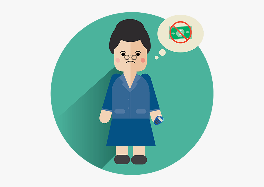 Business Woman With No Money - Finance, Transparent Clipart