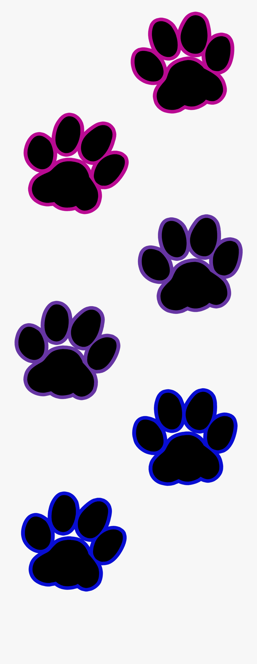 Transparent Cat Paw Print Clip Art, Transparent Clipart