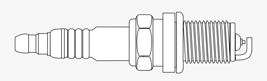 Drawing Of A Spark Plug, Transparent Clipart