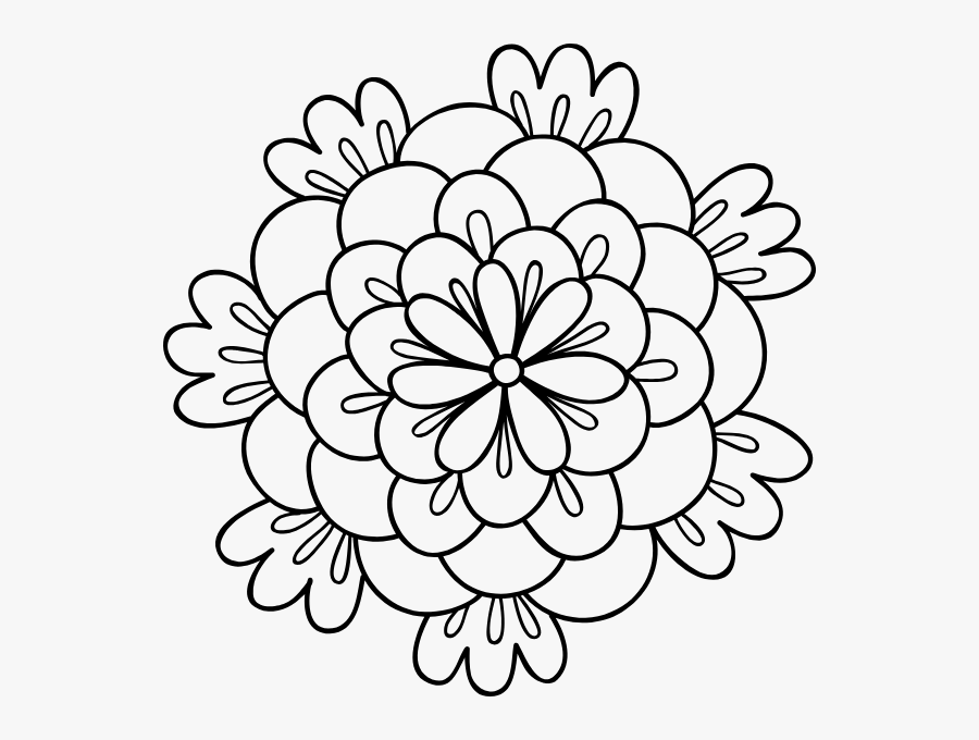 Free Online Flowers Patterns Plant Petals Vector For - Coloring Book, Transparent Clipart