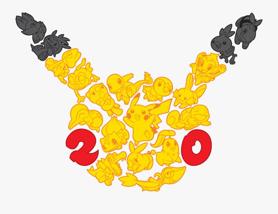 Pokemon 20th Anniversary, Transparent Clipart