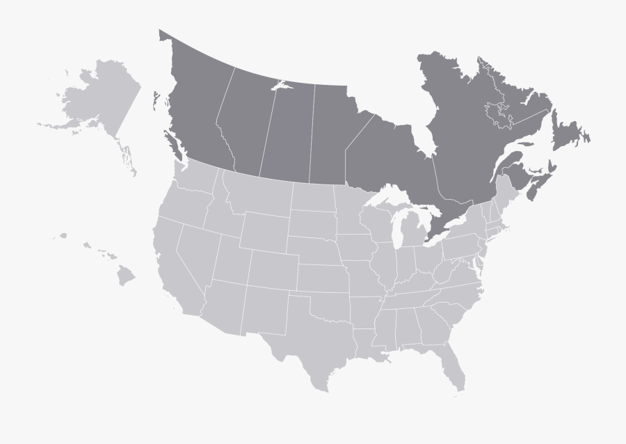 Us Canada Map Png , Free Transparent Clipart - ClipartKey