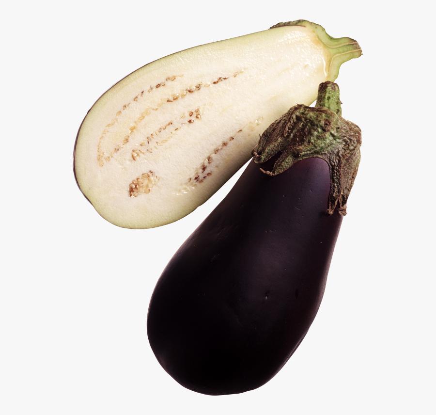 Sliced Eggplant Brinjal Image Hd - Eggplant With Transparent Background, Transparent Clipart