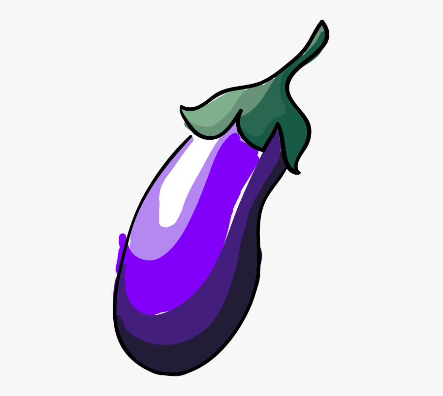 Eggplant Clipart Purple Thing - Eggplant Emoji Overlay, Transparent Clipart