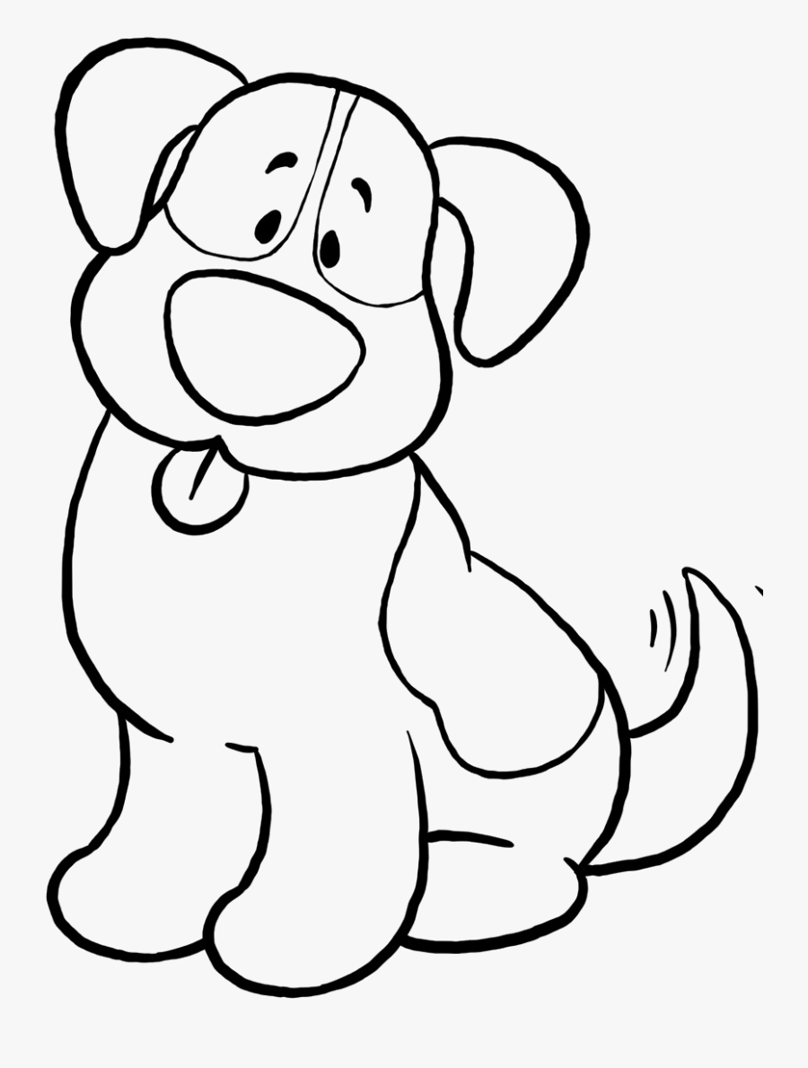 Dog Simple Coloring Page, Printable Dog Simple Coloring, - Easy Dog Colouring Pages, Transparent Clipart
