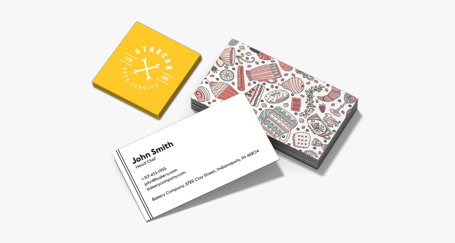 Clip Art Cards From Instantprint - Business Cards, Transparent Clipart