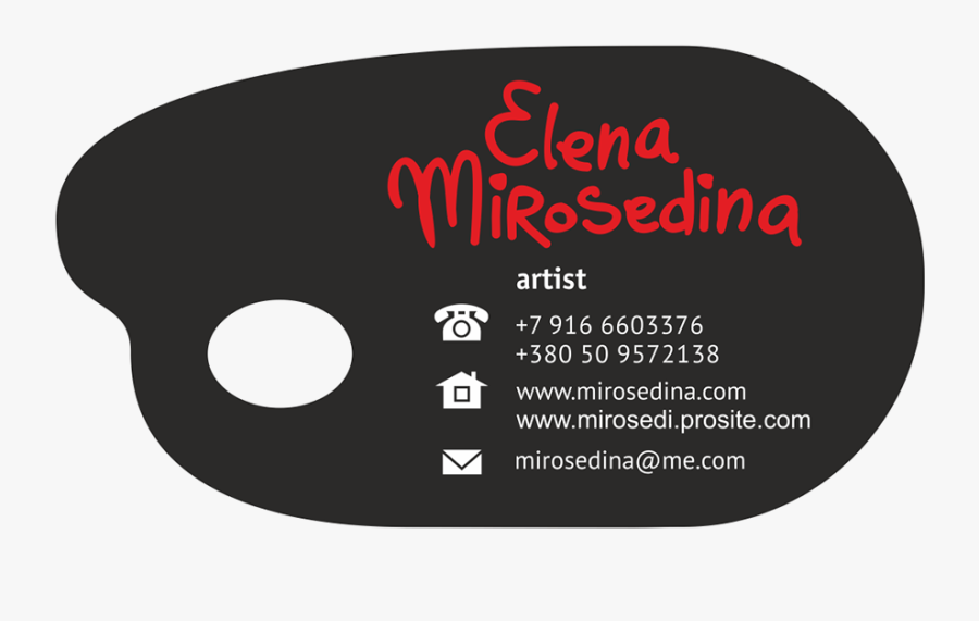 Palette Shaped Business Cards, Transparent Clipart