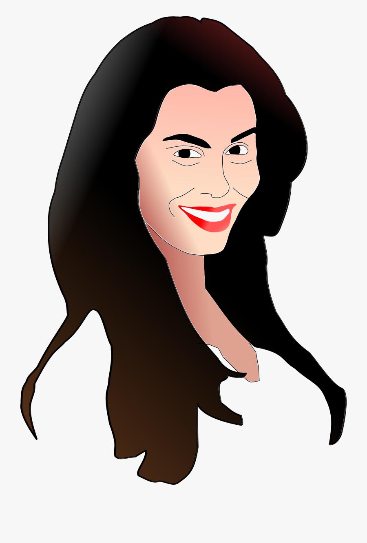 Eva Girl Hair Clipart, Vector Clip Art Online, Royalty - Woman Smile Face Art, Transparent Clipart