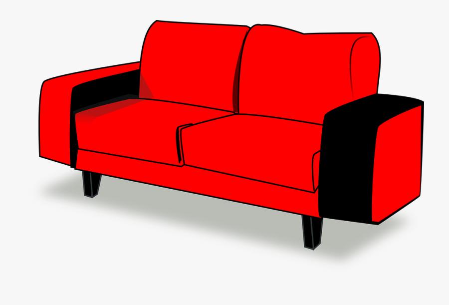 Transparent Sofa Png - Couch, Transparent Clipart