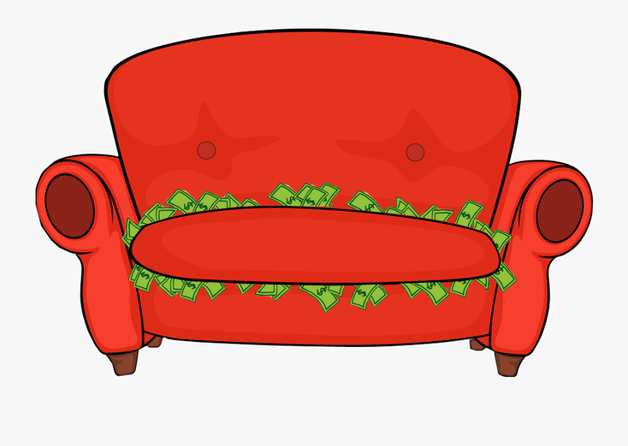 Couch Cushion Finance - Money Couch Clipart, Transparent Clipart