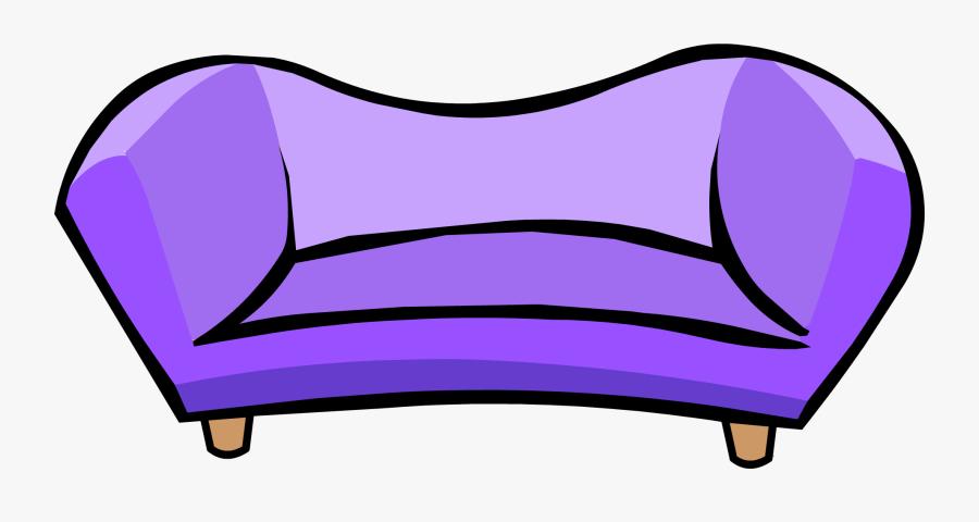 Official Club Penguin Online Wiki - Club Penguin Couch, Transparent Clipart