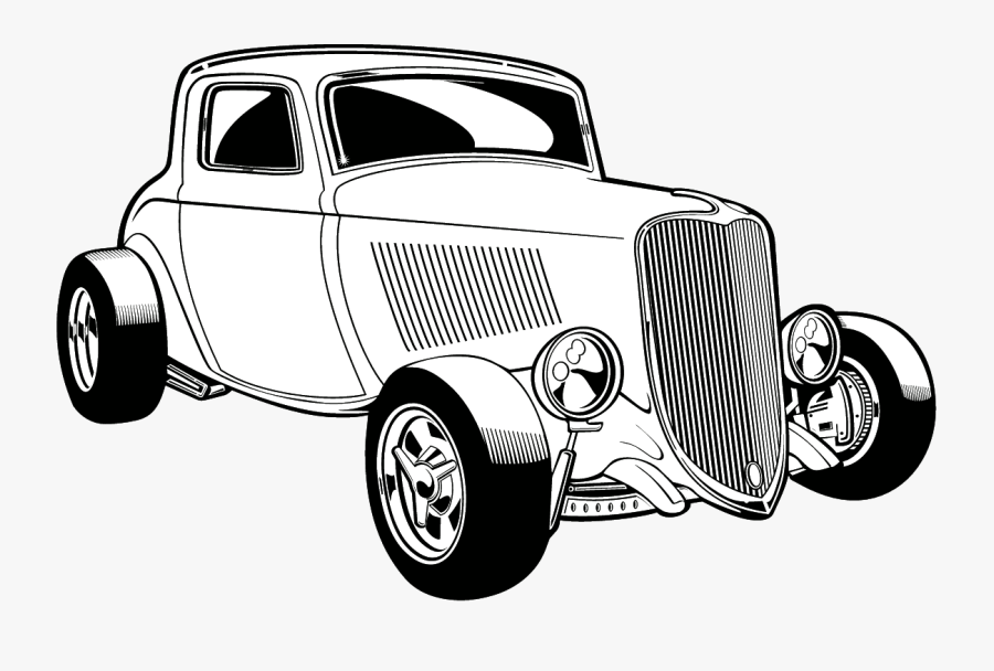 Hot Rod Clip Art Look At Images Transparent Png - Hot Rod Clipart Black And White, Transparent Clipart